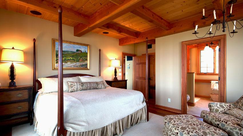 Camera da letto in ciliegio elegante e accogliente for Rendere accogliente camera da letto