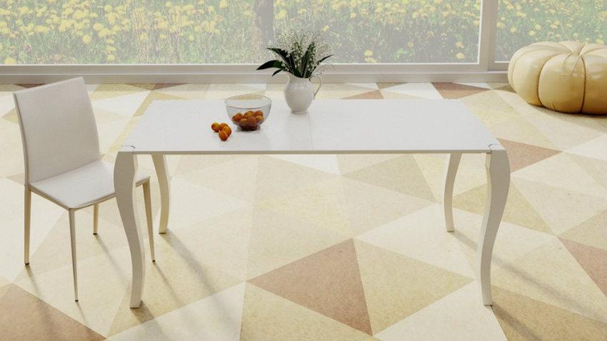 Tavolo bianco lucido una sala da pranzo di stile for Tavolo bianco lucido