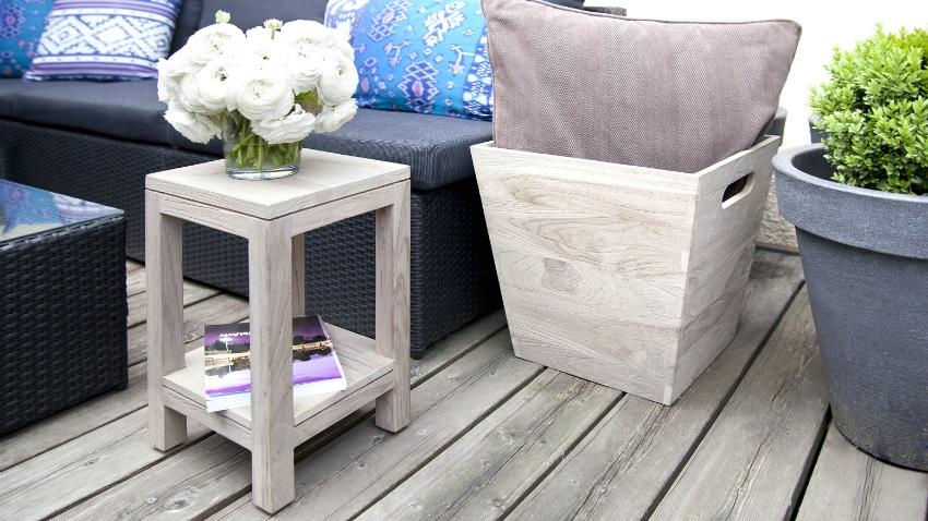 Tavolino da balcone estate con stile dalani e ora westwing for Divani per terrazzi