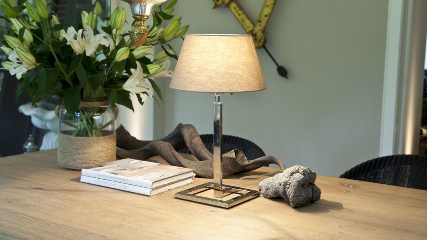 klassiek moderne metalen tafellamp