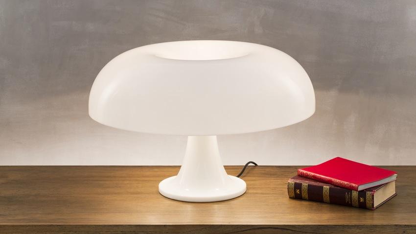 kunststof bureaulamp in wit