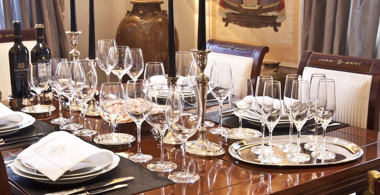 Kristallen wijnglazen