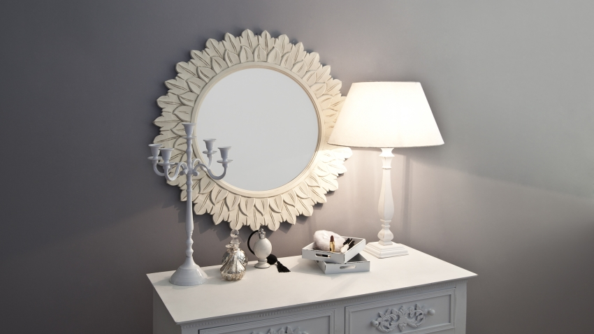 Houten spiegels