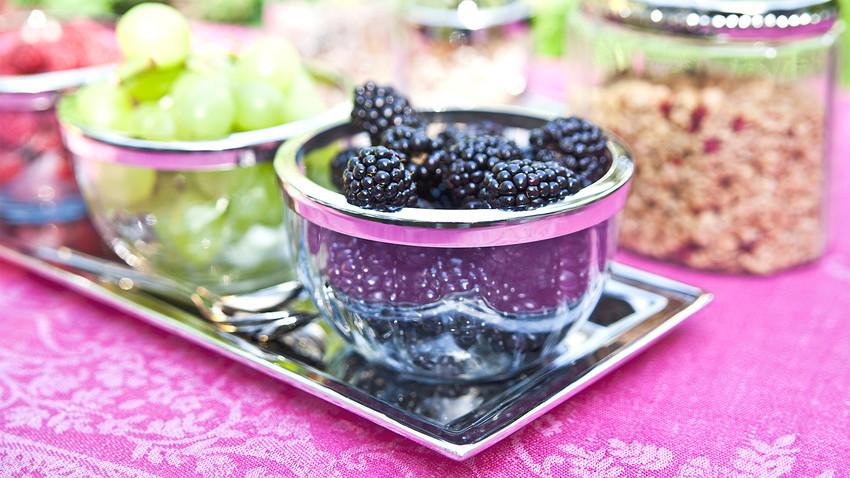 Glazen fruitschaal