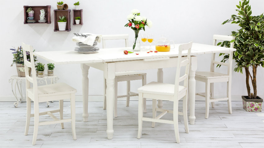 Witte houten eettafel tijdloos en korting tot 70 westwing for Houten eettafel design