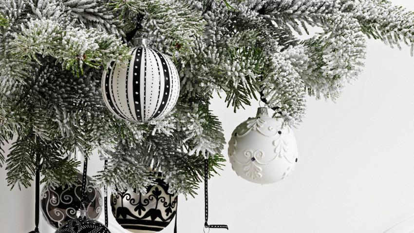Zwart Wit Kerstdecoraties : Eigenzinnige zwarte kerstballen hier met korting westwing