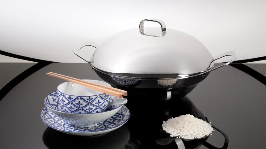 Gietijzeren wokpan