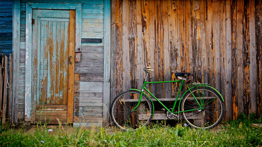 Roze fietskrat