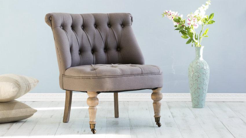 Roze fauteuil
