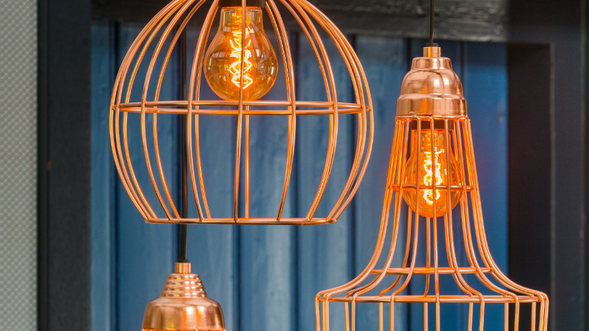 koperen hanglampen sfeervol à n industrieel westwing
