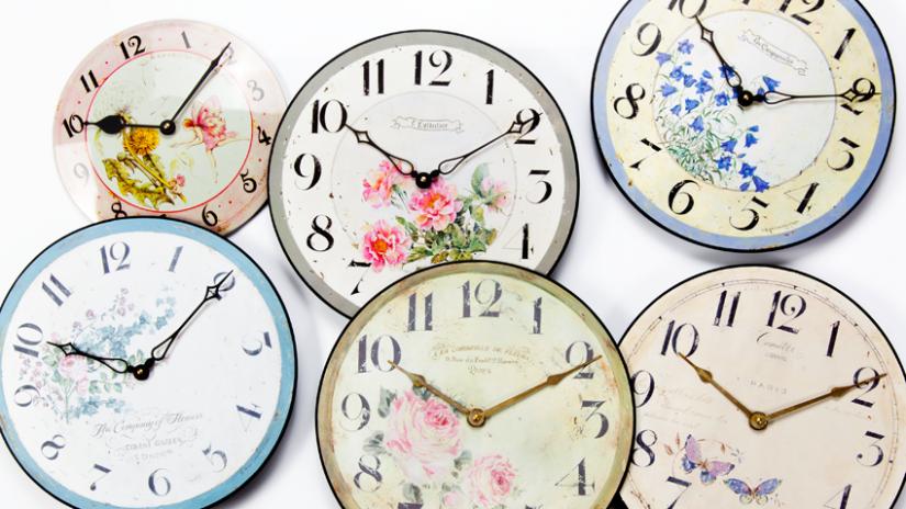 zegary w stylu prowansalskim