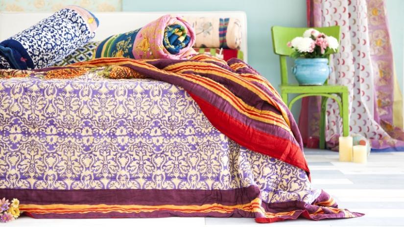 narzuty na łóżko orientalne