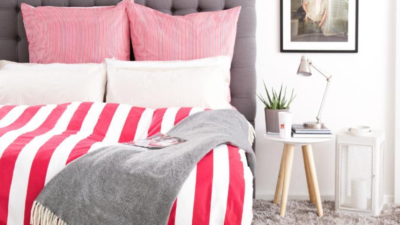 narzuty na łóżko z frędzlami