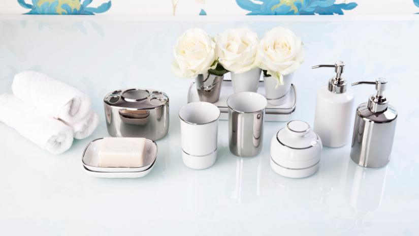 akcesoria łazienkowe w stylu glamour
