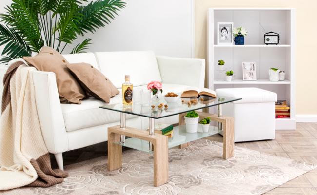 Aranżacja salonu i stolik do salonu