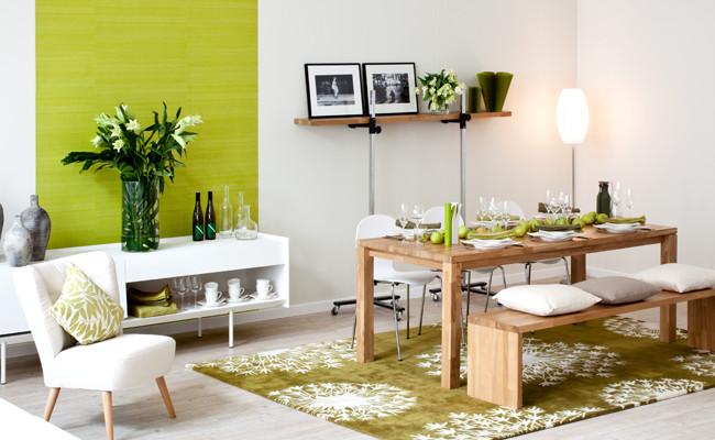Aranżacja salonu w stylu eko