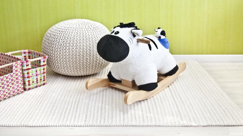 dywan dla dzieci beżowy