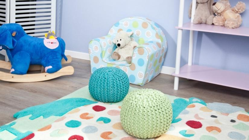 dywan dla dzieci w kropki