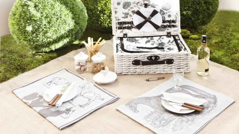 kosz piknikowy rattanowy