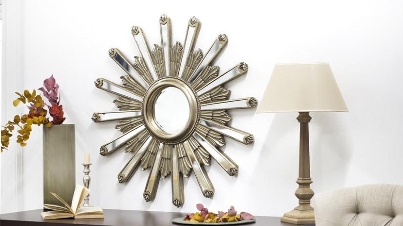 lustro słońce srebrne