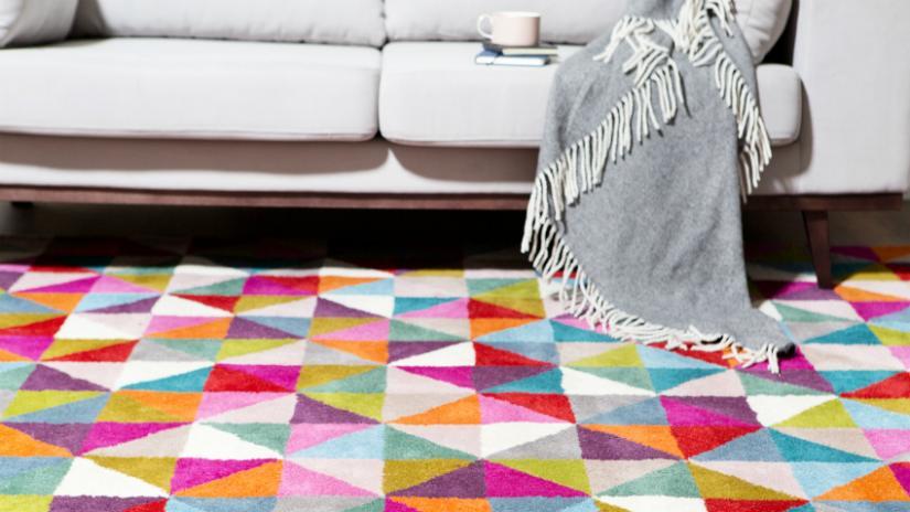 dywan młodzieżowy kolorowy