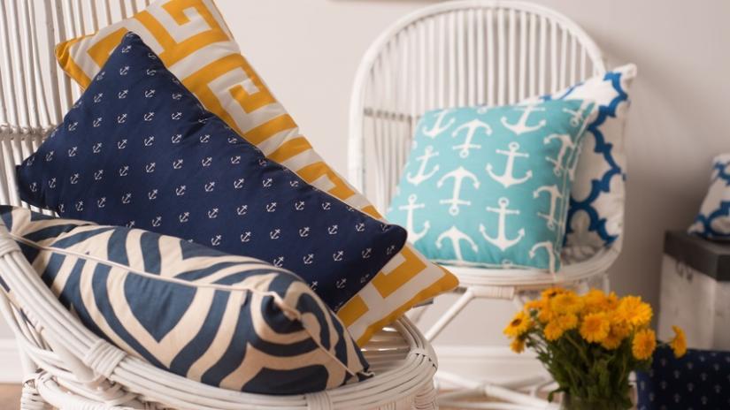 poduszki na krzesła marynistyczne