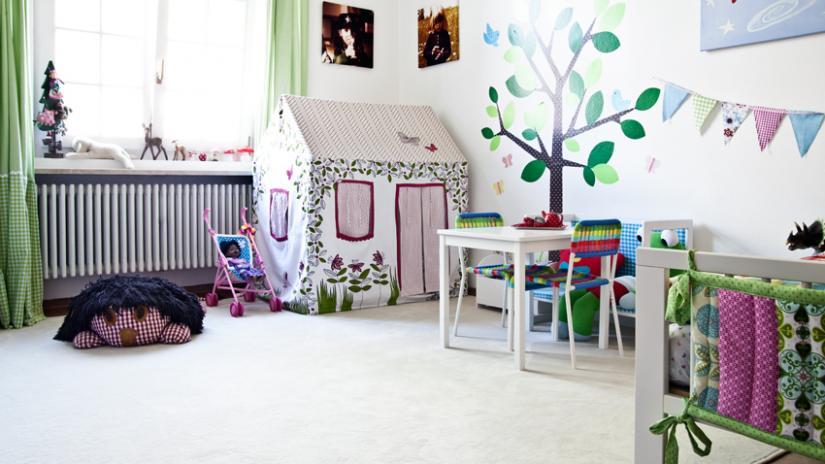 firanki do pokoju dziecięcego zielone