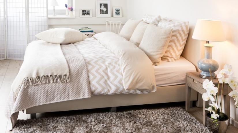 gruby dywan do sypialni