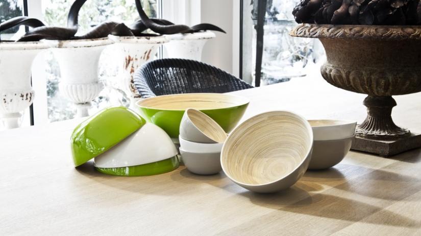 naczynia z bambusa
