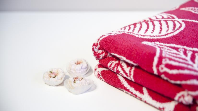 ręczniki plażowe dla dzieci czerwone