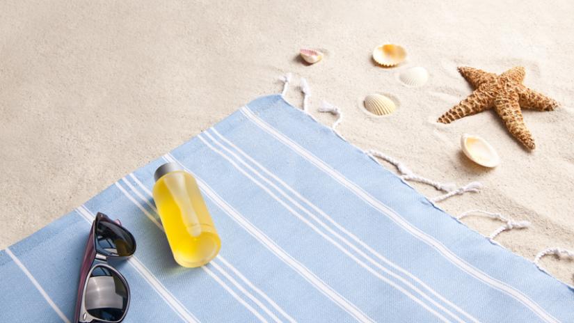 ręczniki plażowe dla dzieci niebieskie