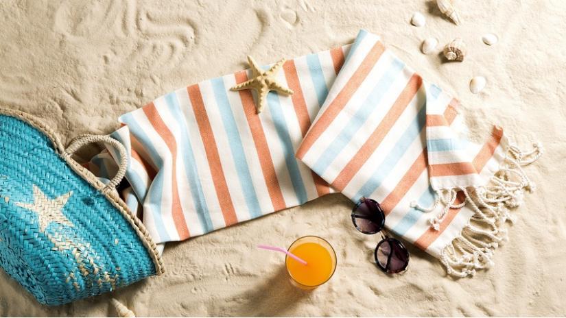 ręczniki plażowe dla dzieci w paski