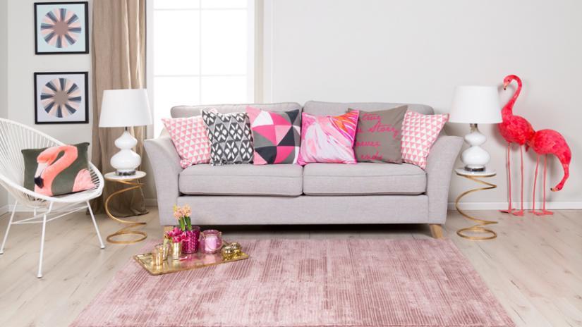 sofa z funkcją spania w stylu retro