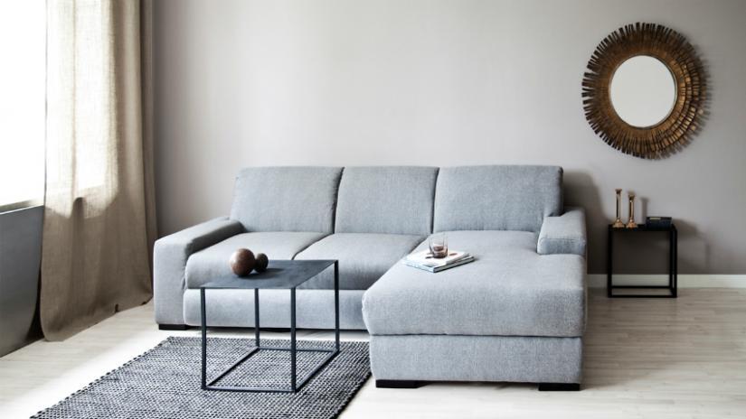 Klasyczna I Elegancka Sofa Szara Westwing