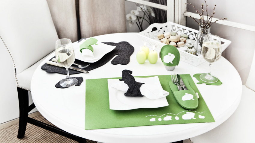 Stół okrągły biały