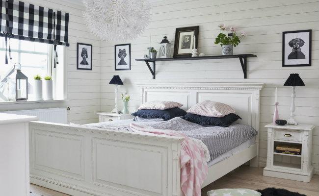 Biała sypialnia i dodatki
