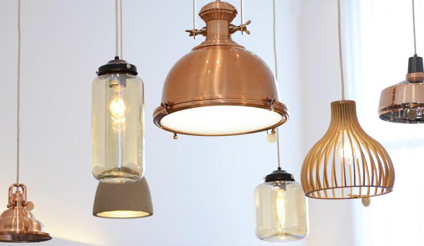 Metalowe lampy w stylu industrialnym