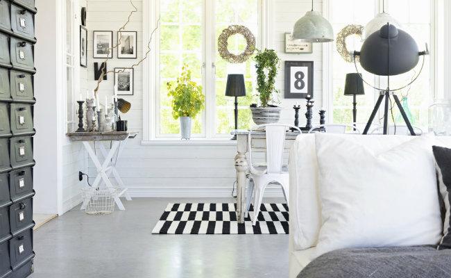 Przytulne białe wnętrze