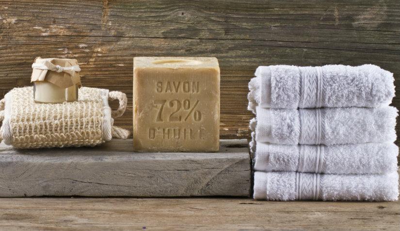 Ręcznik do sauny z haftem