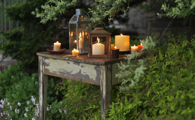 Romantyczny ogród rustykalny