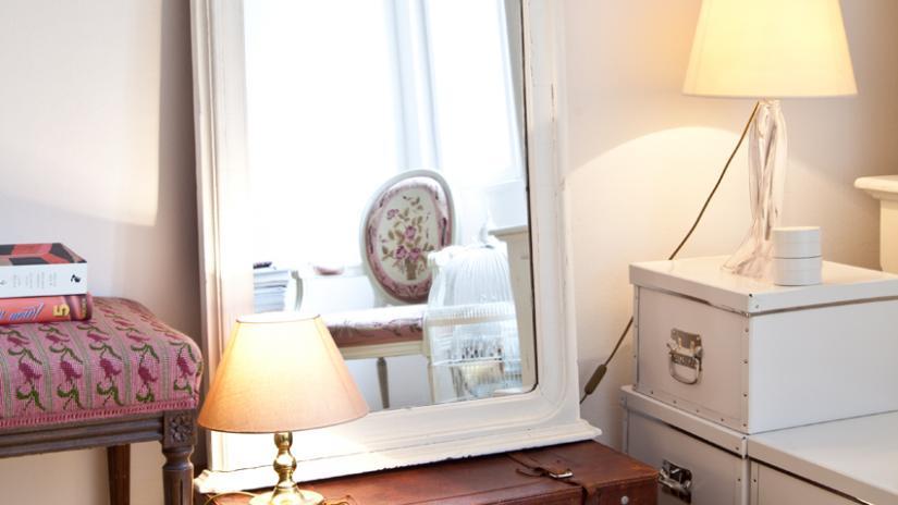 lustro w białej ramie prostokątne