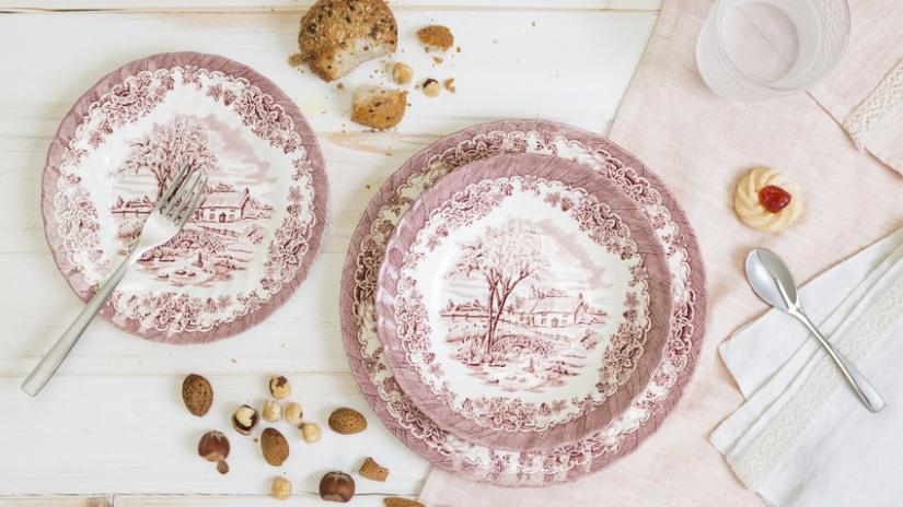 talerze ręcznie malowane