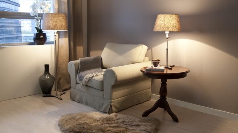 fotel do czytania tapicerowany