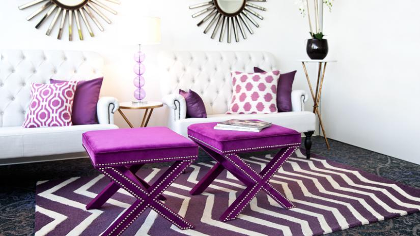 dywan nowoczesny fioletowy