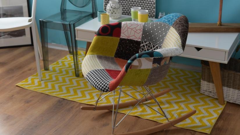 dywan nowoczesny żółty