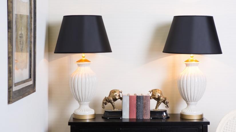 lampy ceramiczne z kloszem