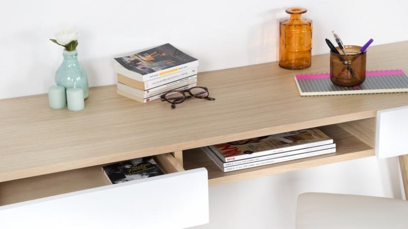 biurko narożne z szufladami
