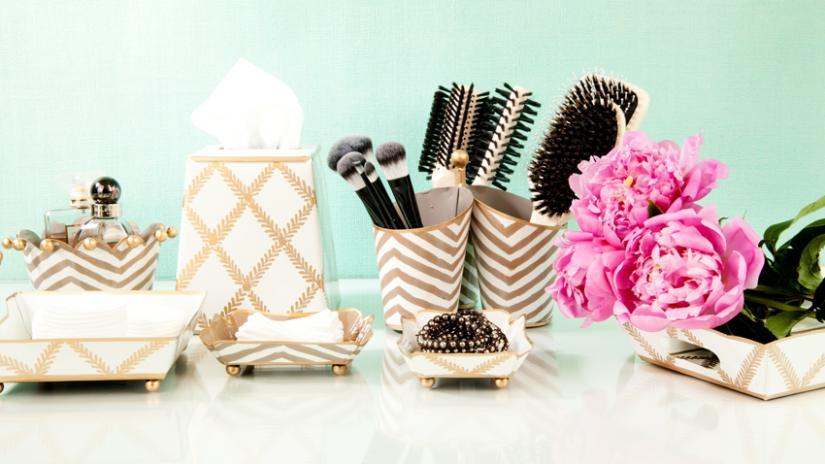 pojemnik na płatki kosmetyczne glamour