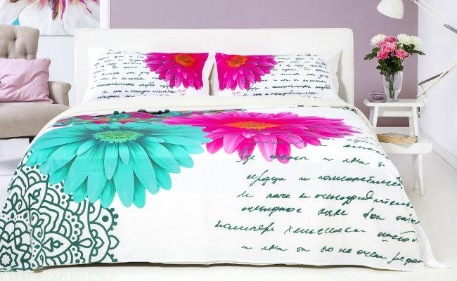 Nowoczesna sypialnia w radosnych kolorach