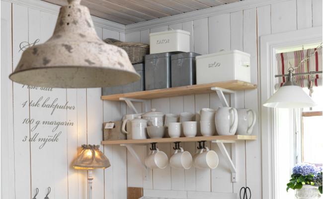 ściany w stylu skandynawskim w kuchni
